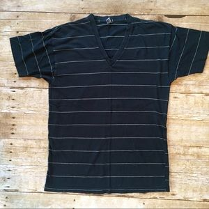 American Apparel striped V neck t shirt